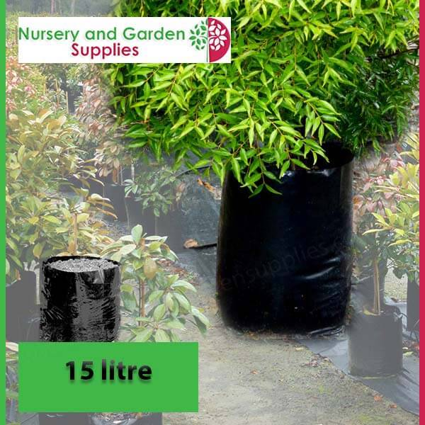 15 litre Poly Planter Bags at Nursery and Garden Supplies - for more info go to nurseryandgardensupplies.com.au