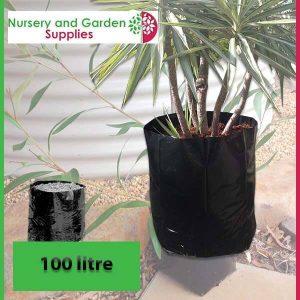 100 litre Poly Planter Bags at Nursery and Garden Supplies - for more info go to nurseryandgardensupplies.com.au