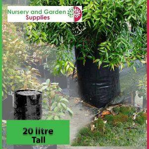 20 litre Tall Poly Planter Bags at Nursery and Garden Supplies - for more info go to nurseryandgardensupplies.com.au