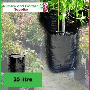 25 litre Poly Planter Bags at Nursery and Garden Supplies - for more info go to nurseryandgardensupplies.com.au