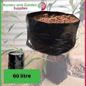 60 litre Squat Poly Planter Bags at Nursery and Garden Supplies - for more info go to nurseryandgardensupplies.com.au