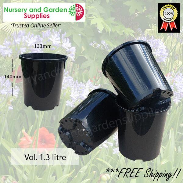 140mm Plastic Plant Pot Standard - for more info go to nurseryandgardensupplies.com.au