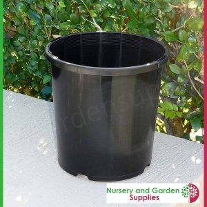 165mm Plant Pot Black - for more info go to nurseryandgardensupplies.com.au