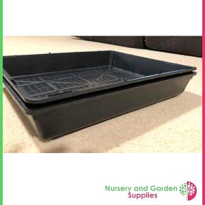 Seedling Tray Restricted Drainage in Hydro Tray - for more info go to nurseryandgardensupplies.com.au
