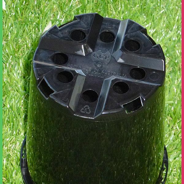 125mm Plastic Pot Slimline Black - www.nurseryandgardensupplies.com.au