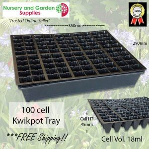 100 cell Plug Tray - for more info go to nurseryandgardensupplies.com.au