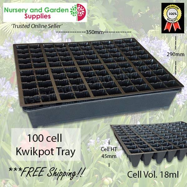 100 cell Plug Tray - for more info go to nurseryandgardensupplies.com.au
