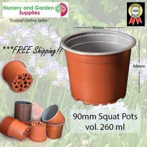90mm SQUAT Teku Plant Pot T/C - for more info go to nurseryandgardensupplies.com.au