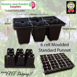 6 cell Moulded Punnet Standard - for more info go to nurseryandgardensupplies.com.au
