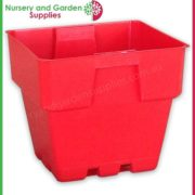 100mm-Square-Squat-Punnet-Pot-Red-2