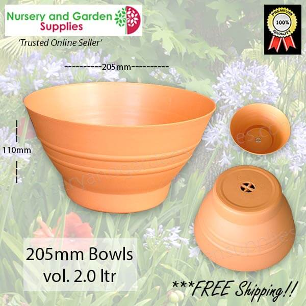205mm Country Garden Plant Bowl - for more info go to nurseryandgardensupplies.com.au