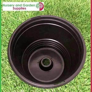 200mm Hanging Baskets Saucerless Black - for more info go to https://nurseryandgardensupplies.co.nz/product-category/plant-hanging-baskets/