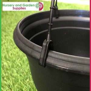 200mm Hanging Baskets Saucerless Black - for more info go to nurseryandgardensupplies.com.au