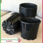 140mm-Squat-Plant-Pot-Black-3