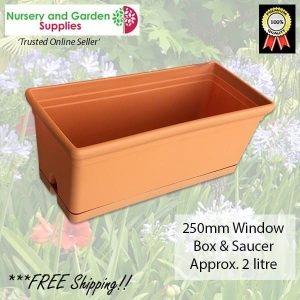 250mm Window Box Plant Pot - for more info go to nurseryandgardensupplies.com.au