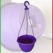 0 200mm hanging Basket Purple 4