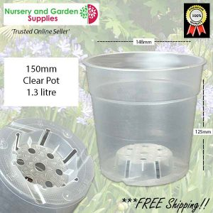 150mm Clear Pot Orchid TEKU - for more info go to nurseryandgardensupplies.com.au