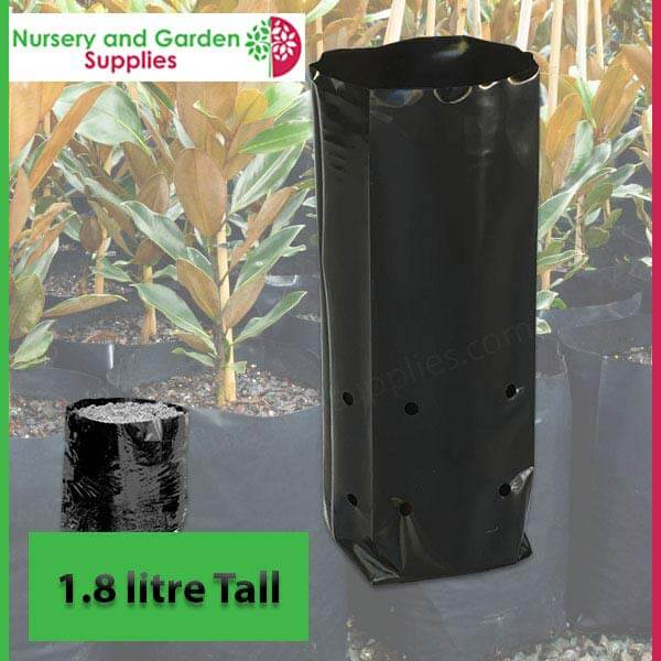 1.8 litre Tall Poly Planter Bags at Nursery and Garden Supplies - for more info go to nurseryandgardensupplies.com.au