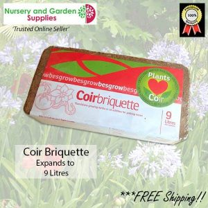9 litre Coir Briquette - for more info go to nurseryandgardensupplies.com.au