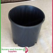 200mm-Slimline-Plant-Pot-Black-3