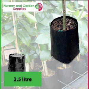 2.5 litre Poly Planter Bags at Nursery and Garden Supplies - for more info go to nurseryandgardensupplies.com.au