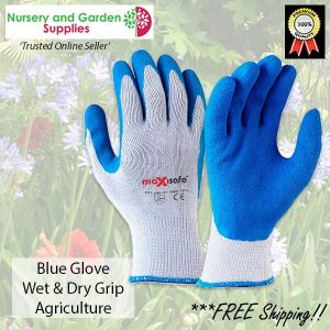 Wet dry Grip Durable Blue Agriculture Garden Glove - for more info go to nurseryandgardensupplies.com.au