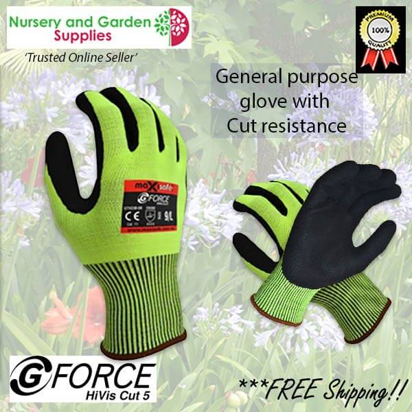 General purpose HiVis Cut 5 Premium Garden Glove - for more info go to nurseryandgardensupplies.com.au