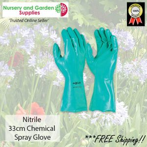 33cm Nitrile Chemical Garden Spray Glove - for more info go to nurseryandgardensupplies.com.au