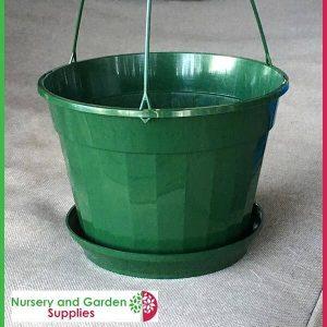 170mm Hanging Basket Green - for more info go to nurseryandgardensupplies.com.au