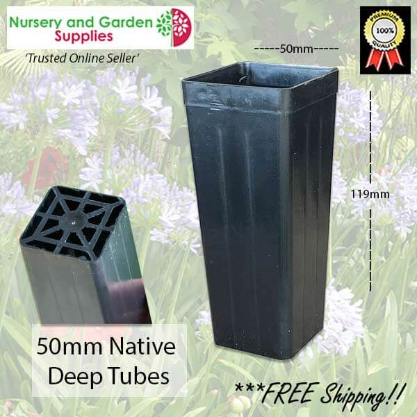 50mm Native Deep Square Tube - for more info go to nurseryandgardensupplies.com.au