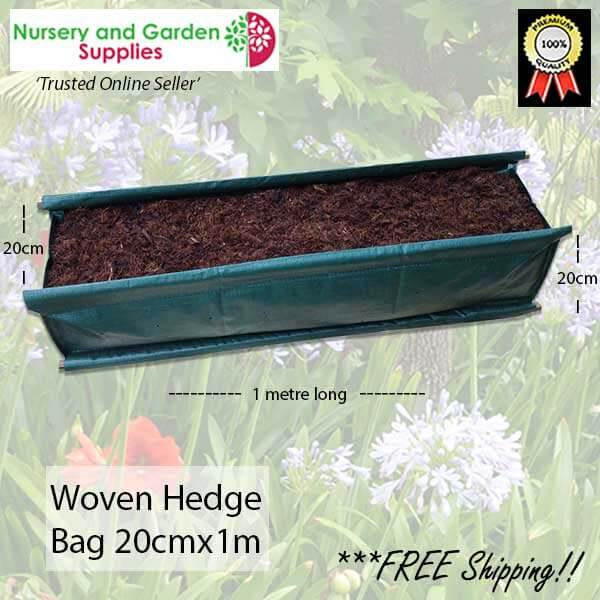 Woven Hedge Bag 20x100 - for more info go to nurseryandgardensupplies.com.au