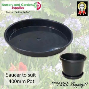 Saucer to suit 400mm Pot - for more info go to nurseryandgardensupplies.com.au