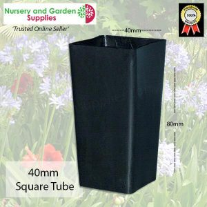 40mm Square Seedling Tube - for more info go to nurseryandgardensupplies.com.au