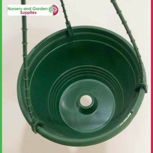 200mm Saucerless Hanging basket Green - for more info go to nurseryandgardensupplies.com.au