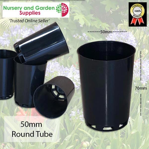 50mm Round Seedling Tube - for more info go to nurseryandgardensupplies.com.au