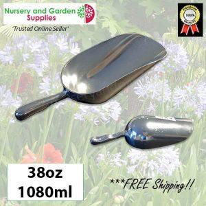 230mm Potting Scoop 38oz ALUMINIUM - for more info go to nurseryandgardensupplies.com.au
