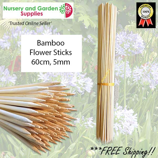 60cm Bamboo Sticks - for more info go to nurseryandgardensupplies.com.au
