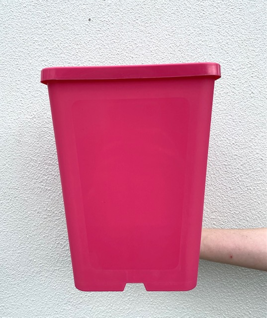 183mm Square Deep Pot Pink