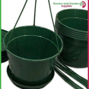 140mm Hanging Pot Green