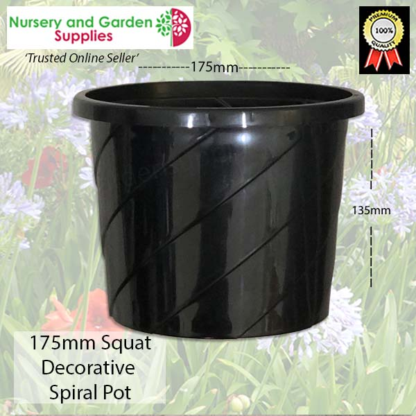 175mm Decorative Spiral Pot