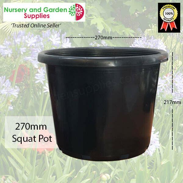 270mm Squat Pot Black