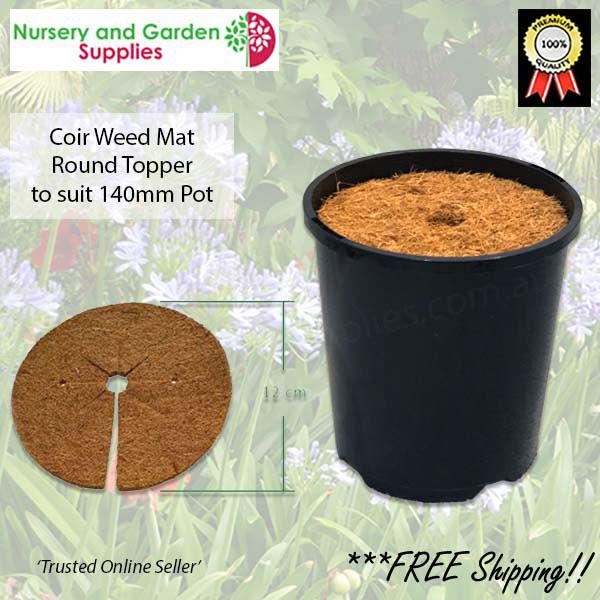 Weed Control Coir Pot Topper 12cm