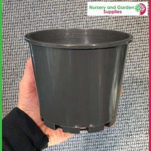 140mm Squat Pot Charcoal